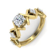 Unique And Fantasy Simulated Diamond Engagement Ring Wedding Ring Gift F... - $579.99