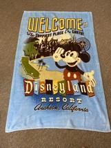 Disney Parks Welcome Disneyland Resort Mickey Fleece Throw Blanket 63'' X 40'' - $24.99
