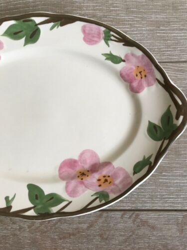 """Franciscan Desert Rose Dinnerware Platter 14"""" x 10"""" Long New Modern Stamp image 3"""
