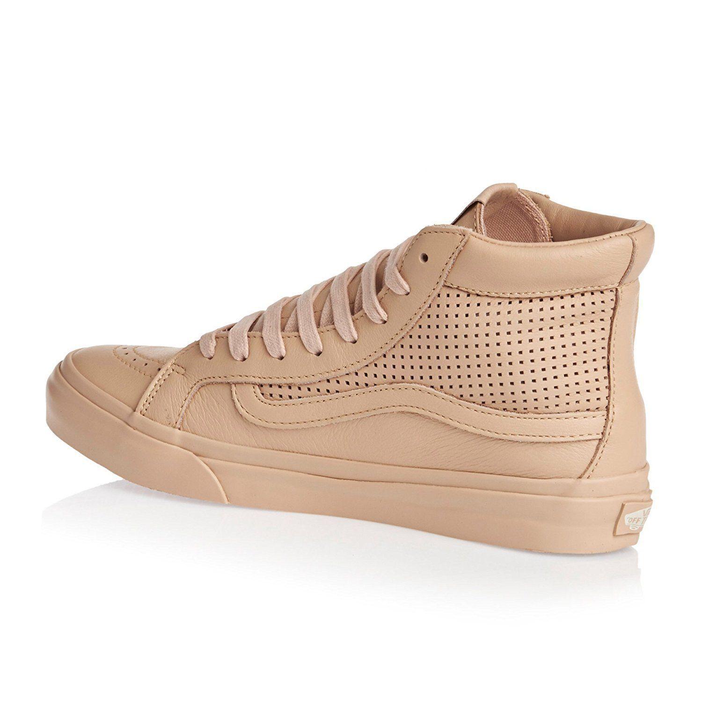 bcb4e136a6b499 New Vans Unisex Sk8-Hi Slim Cutout Square Perf Skate Amberlight Shoes Mens 8