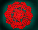 Vintage red doily thumb155 crop