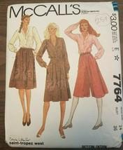 Vintage 1981 McCall's 7764 Misses Blouse Culottes & Skirt Sz. 14 Uncut - $14.70