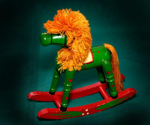 Xmas wood rockn horse
