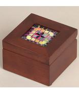 Mini Mahogany Wooden Box 3x3x2 cross stitch Sudberry House  - $17.55