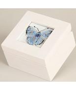 Mini White Wooden Box 3x3x2 cross stitch Sudberry House  - $17.55