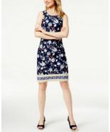 Charter Club Women's Print Sheath Dress Intrepid Blue Combo Size Medium - $20.79