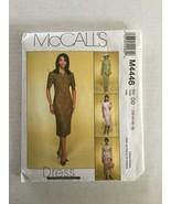 McCalls M4446 Sewing Pattern  Misses Dress Jacket Skirt 12 -18 Uncut - $5.93