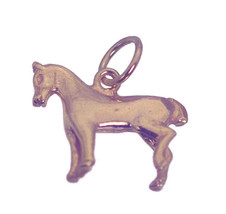 NICE Gift for anyone who loves horse Pony lover jewelry CHARM Rose Gold ... - $18.96