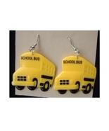 SCHOOL BUS EARRINGS-Big Yellow Driver Gift Teacher Charm Jewelry - $5.97