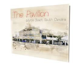 The Pavilion Amusement Myrtle Beach SC Shag Dance Club 16x20 Aluminum Wall Art - $59.35