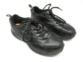 Dr Comfort Winner Plus 7210 Mens Black Leather Lace Up Comfort Shoes Siz... - $47.53