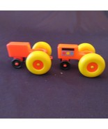 Lot #50 Fisher Price Little People 2 Tractors Engine Sticker Play Farm 915 - $13.87