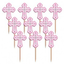 Religious Party Picks - Pink  (36 Pack) - $6.64
