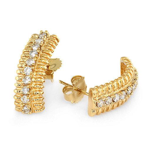 .75 ctw Diamond Earrings set in 14k solid gold