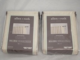 NEW Set of 2 Allen + Roth Merriby Grommet Top Curtain Panels, 54 x 84 - ... - $36.99
