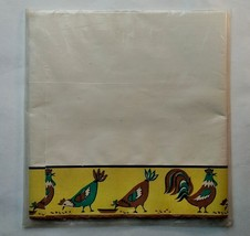 1950's Royledge Shelf Lining Paper and Edging Chickens Yellow Brown Green - $14.01