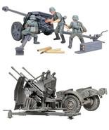 2 Tamiya German Models - 75 mm Pak 40/L46 and 20 mm Quad Flak (Flakvierl... - $32.66