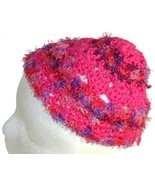 Bright Pink Crochet Beanie Hat - $13.50