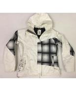Roxy Women's M 5K 5000 Waterproof Snowboard / Ski Coat Jacket Black Whit... - $33.66