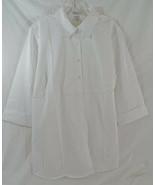 Women's Plus Size Maternity Poplin Blouse in White 3/4 Sleeves - $17.59