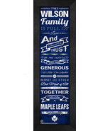"Personalized Toronto Maple Leafs ""Family Cheer"" 24 x 8 Framed Print - $39.95"