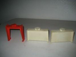 Vintage Hot Wheels Mattel Set of 3 Trestles White Red Redline Era 1968 - $19.79