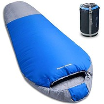 NORSENS Lightweight Compact Mummy Sleeping Bag with Compression Sack for... - $38.93