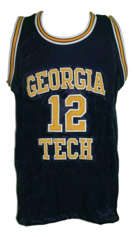 Kenny anderson  12 college basketball jersey nacvy blue   1