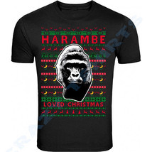 NEW MEN WOMEN'S CHRISTMAS T-SHIRT XMAS Gift UNISEX BLACK HARAMBE 2018 - $8.41+
