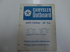 1972 Chrysler Outboard 20 HP Parts Catalog Manual 202 203 HD H BD B OB 1476 FEO - $19.78
