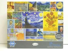 Vincent Van Gogh Gallery 1500 Pc Museum Starry Night Irises Sower Sunflo... - $39.59