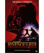 "Star Wars ""Revenge Of The Jedi"" Movie Promo Stand-Up Display - Sci-Fi Space - $16.99"
