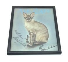 """Framed Signed Original Betty White Autograph All Cats Print 9x12"""" Golden Girls image 1"""