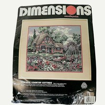 DIMENSIONS Needlepoint Kit Peaceful Country Cottage 2388 Sealed Barbara ... - $34.60