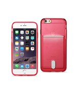 REIKO IPHONE 6 PLUS REIKO SEMI CLEAR CASE WITH CARD HOLDER IN CLEAR RED ... - $8.08