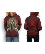 Rare new marilyn manson red hoodie women s thumbtall
