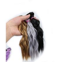 Allaosify BJD Hair Curly 25CM*100CM WIG For Dolls Synthetic Wig Free shi... - $7.29+