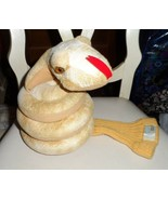 Tan Coiled snake golf club head cover by creative covers - $35.00