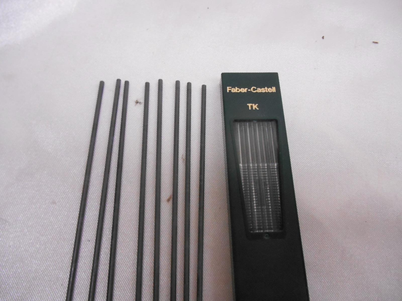 Old Vtg FABER-CASTELL MECHANICAL PENCIL MINEN LEADS #90712B Made Germany LOT 8