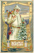 White Suited Santa Claus vintage 1911 Post Card by Tuck - $60.00