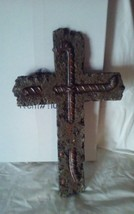 Cross Wall Hanging with Re Barb design by Rivers Edge