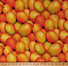 Cotton Mangoes Mango Tropical Fruits Food Cotton Fabric Print by Yard M7... - $9.95