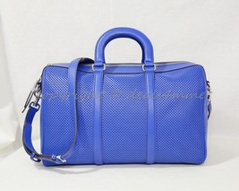 NWT! Michael Kors Libby Large Gym Bag in Electric Blue Perforated Leather - $279.00