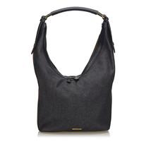 Pre-Loved Gucci Black Denim Fabric Web Shoulder Bag Italy - $387.09