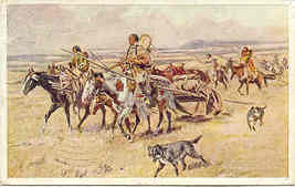 Women of the Plains Charles Russell vintage 1910 Post Card - $25.00