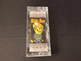 1988 Orange Bowl Miami Florida Full Ticket Stub West Stand NM Encased In... - $87.22