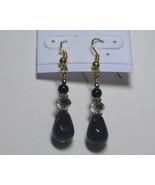 Black and gray drop earrings - $8.00