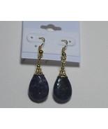 Purple drop earrings - $10.00