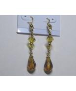 Topaz colored dangling earrings - $8.00