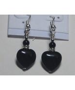 Black and silver heart earrings - $5.00